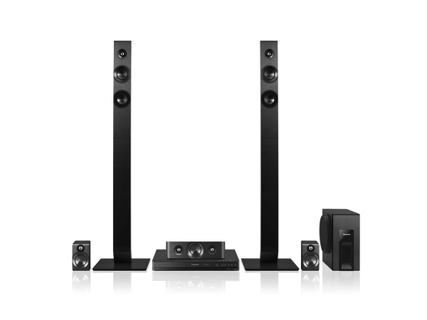 Panasonic sc-xh166gs-k 5.1ch 300w tall boy dvd home theater system picture