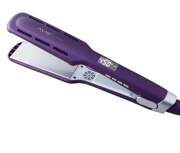 Professional lcd hair straightener - titanium purple picture