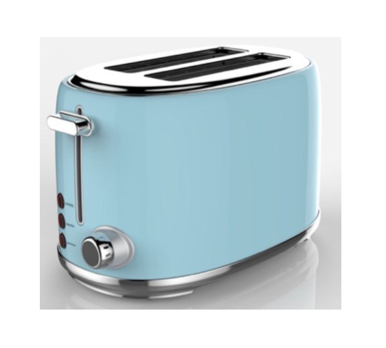 Swan 2 slice stainless steel blue toaster picture
