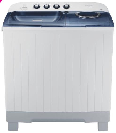 Samsung 14kg twin tub washing machine wt14j4200mb.fa picture