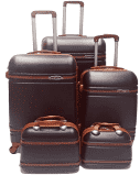 Set of 5 beautiful suitcases travel trolley luggage picture
