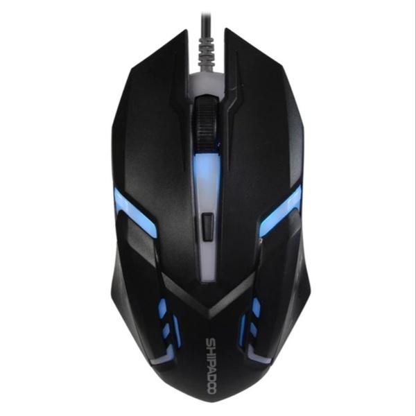 Shipadoo s500 high performance 1600dpi led gaming mouse - black picture