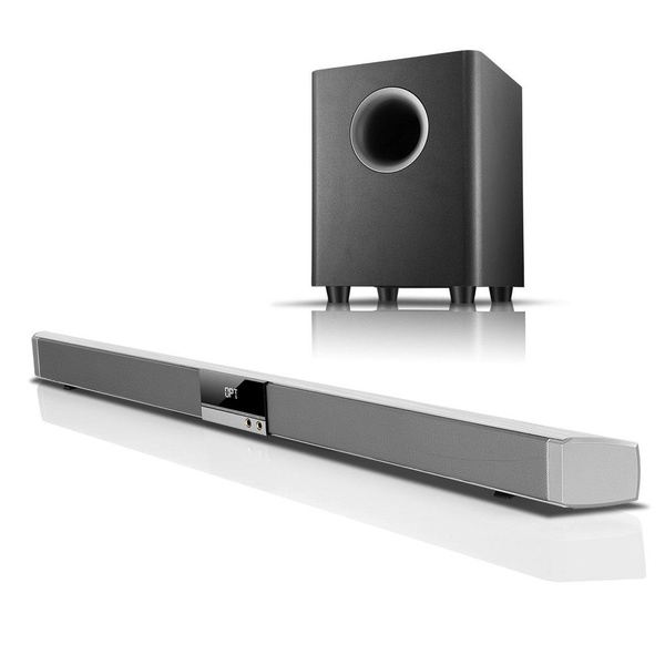 Sound bar speaker + wireless bluetooth subwoofer picture