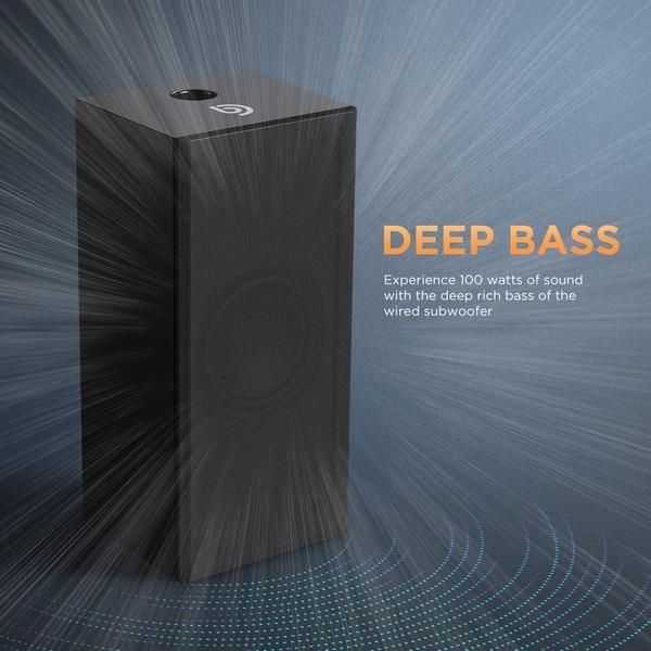 Sound bar with subwoofer, ultra slim 2.1 ch tv soundbar picture