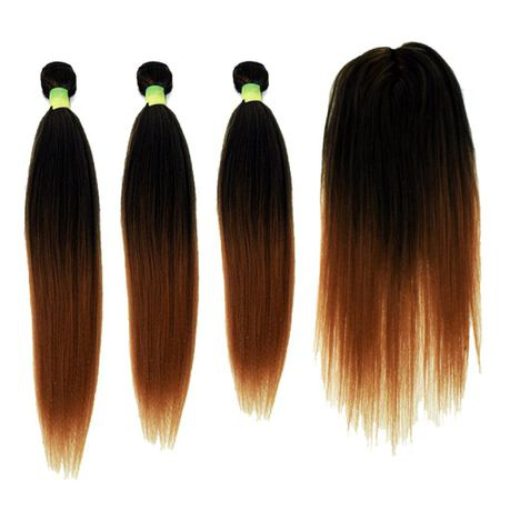 18inch 20inch 22inch with closure straight synthetic package color 27 picture