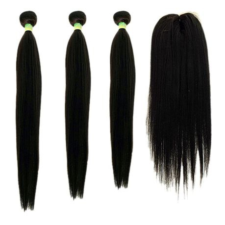 18inch 20inch 22inch with closure straight synthetic package color 1 picture