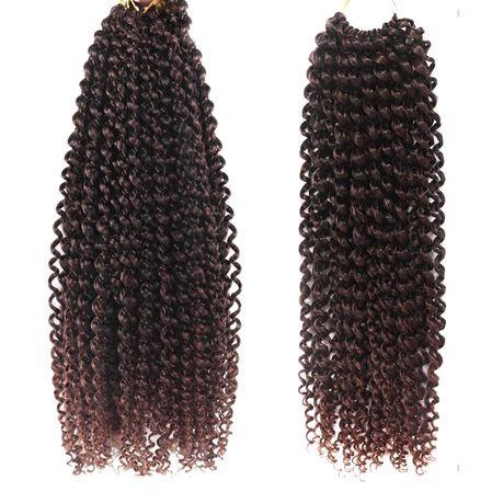 Passion twist water wave braids - 4 packs - black/brown picture