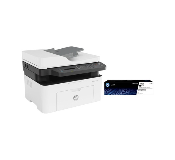 Hp 137fnw 4 in 1 mono laser printer bundle picture