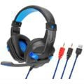Sy860mv blue gaming headset 3.5mm wired noise canceling headphone with mic picture