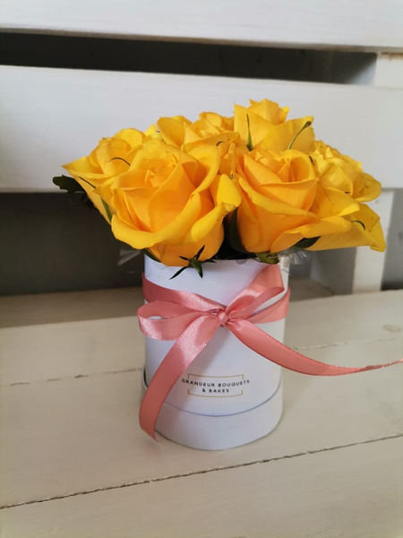 Mini rose fleur box picture