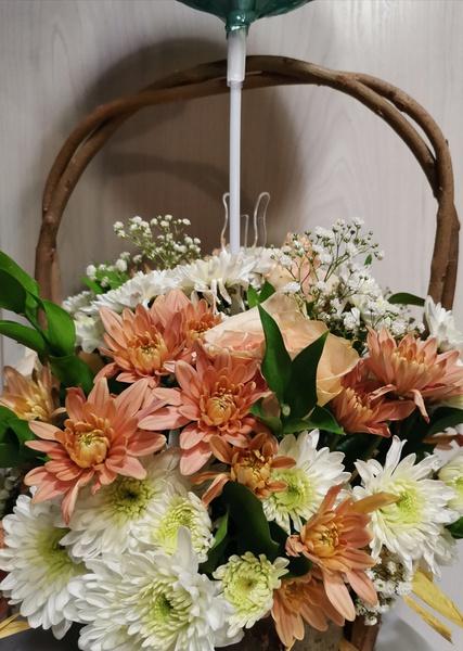 Get well soon! medium flower basket picture