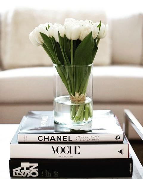 20 fresh white tulips picture