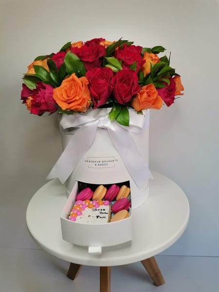 Grandeur 40  rose stem luxury box picture