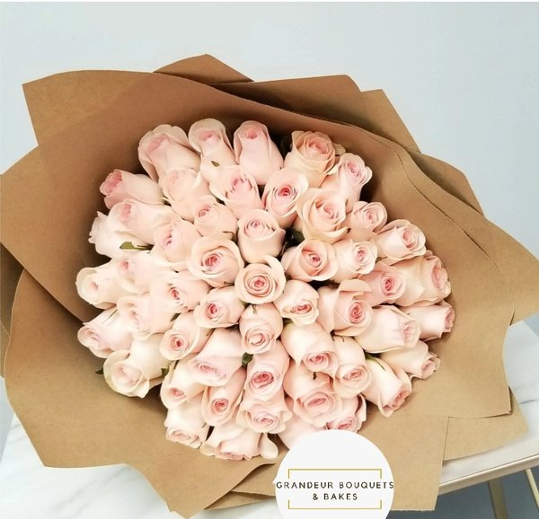 50 luxury pink rose bouquet picture