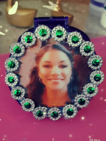 Personalized photo pocket/purse mirror picture