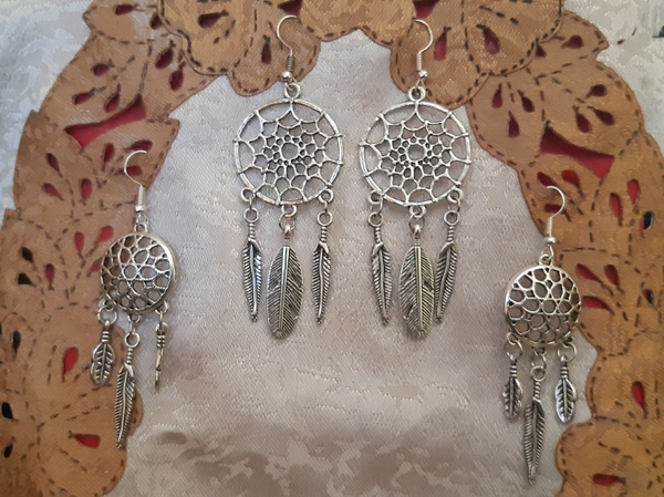 Vintage  dream catcher earrings picture