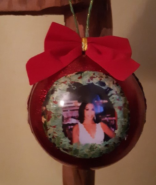 Photo in a bauble picture
