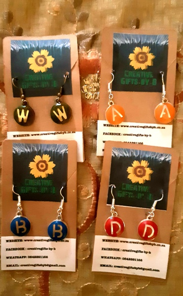 Alphabet earrings picture