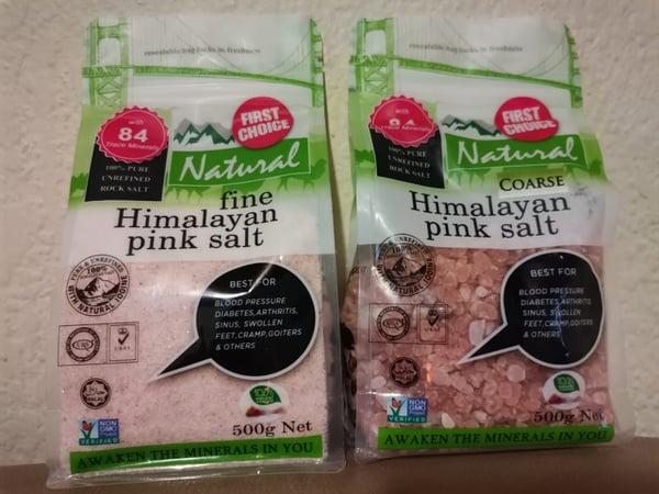 Himalayan pink salt fine/coarse picture