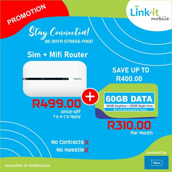 Link-it Mobile data sim with a Mifi Router picture