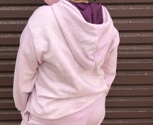 Purple tie dyed hoodie picture
