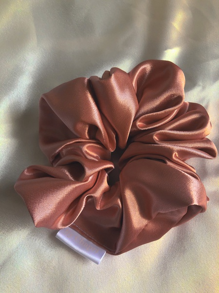 Rosey satin scrunchie picture