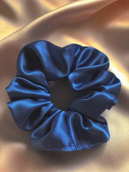 Ocean satin scrunchie picture