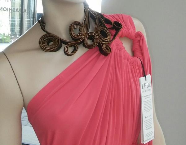 Florish zip designer neck piece. picture