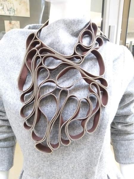 Hokima zip designer neck piece picture