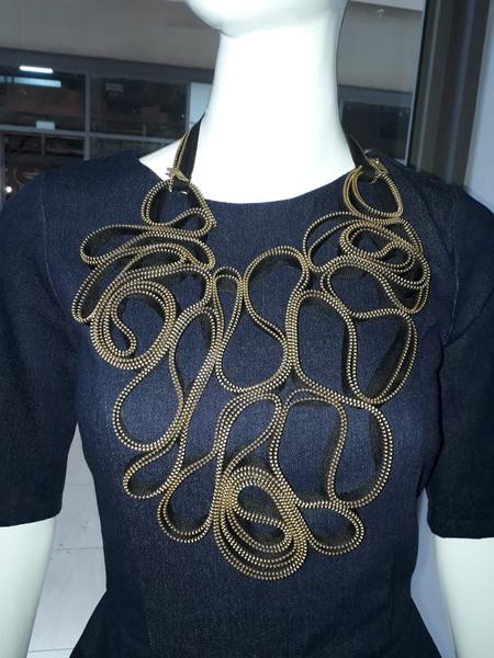 Diplomatic zip designer neck piece picture