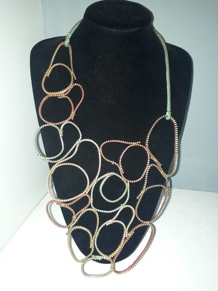 Makhosi zip designer neck piece picture