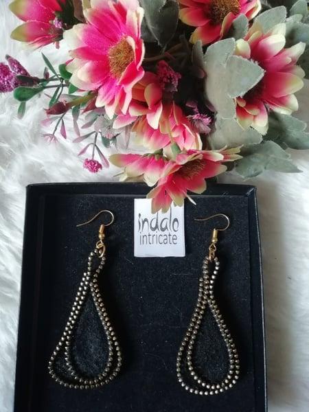 Zipper designer earrings picture