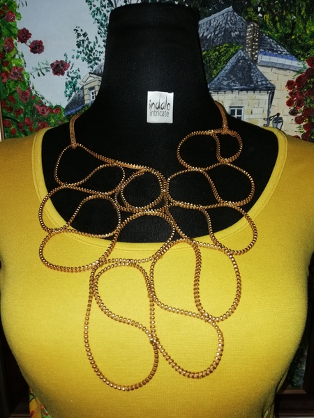 Unique zip designer neck piece picture