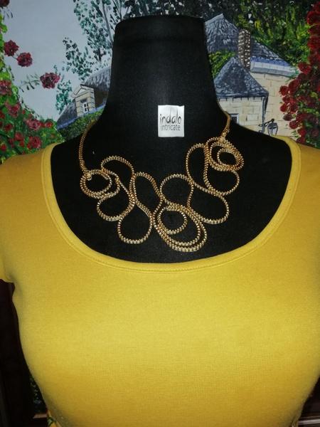 Nathi zip designer neck piece picture