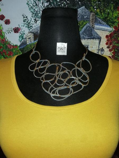 Artsy zip designer neckpiece picture
