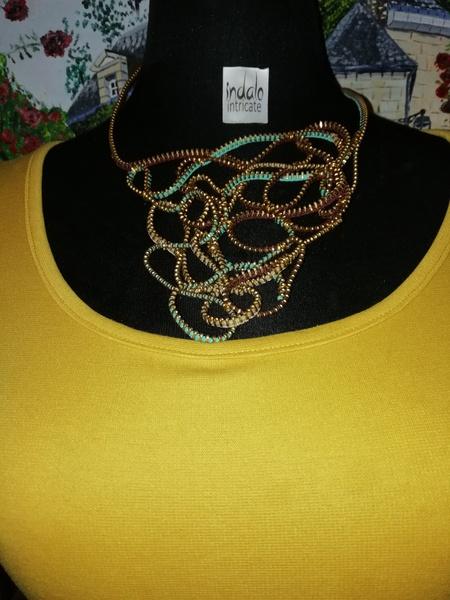 Emihle zip designer neck piece picture