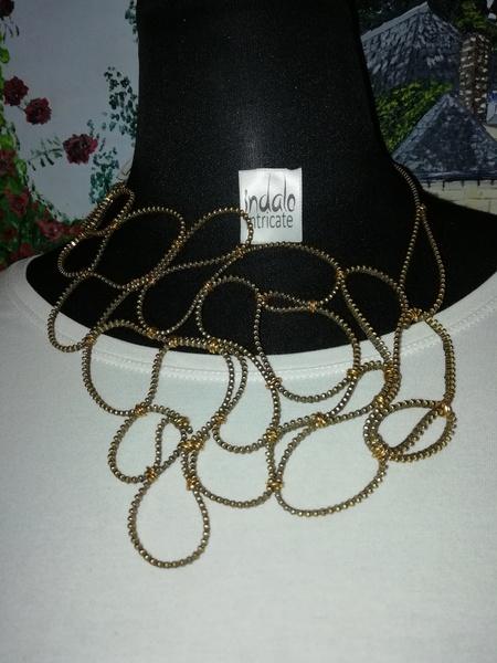 Elegant zip designer neck piece picture