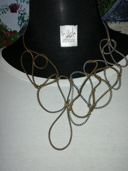 Perfect zip designer neckpiece picture