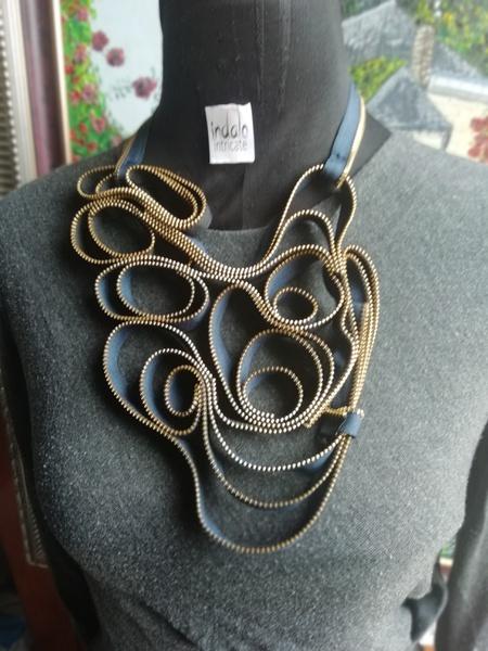 Yaka zip designer neck piece picture