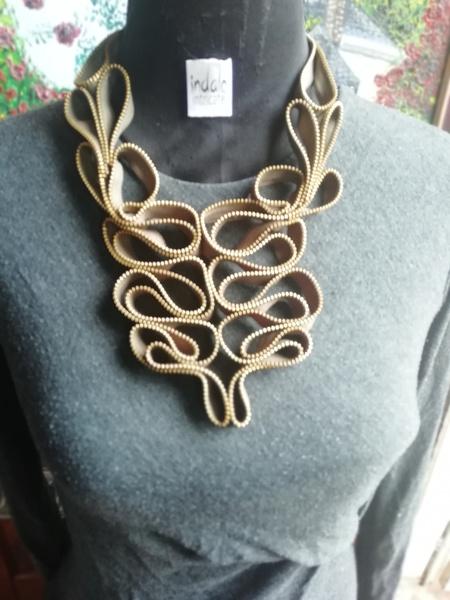 Nhle zip designer neck piece picture