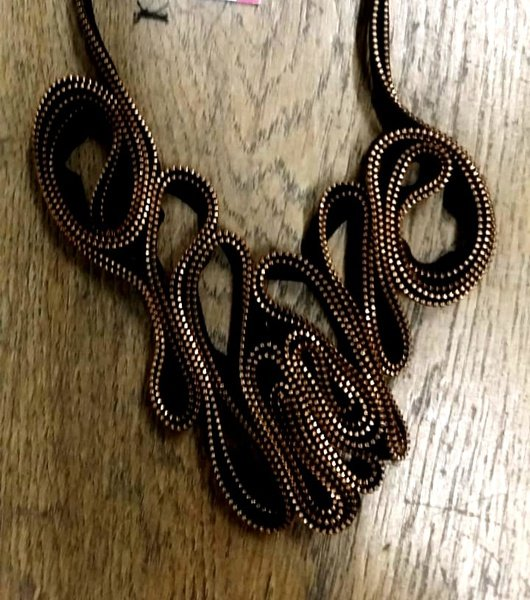 Sweetness zip designer neck piece. picture