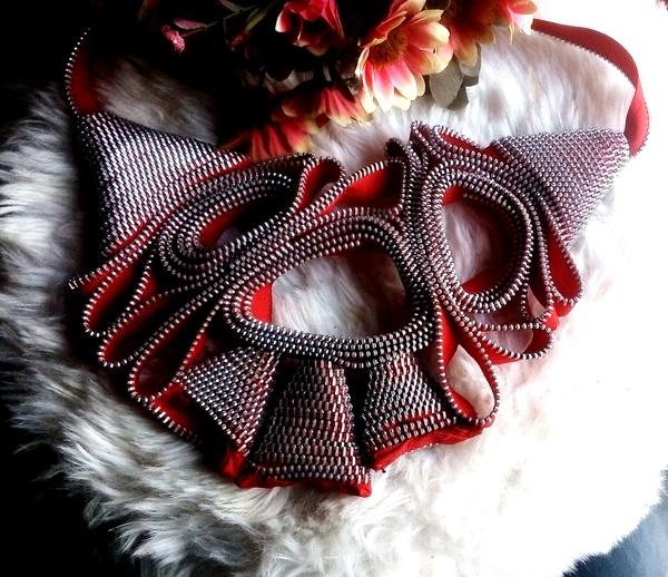 Queen zip designer neck piece picture