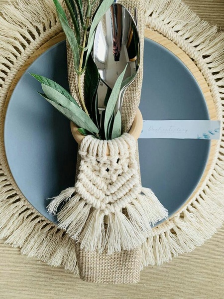 Macrame napking rings picture