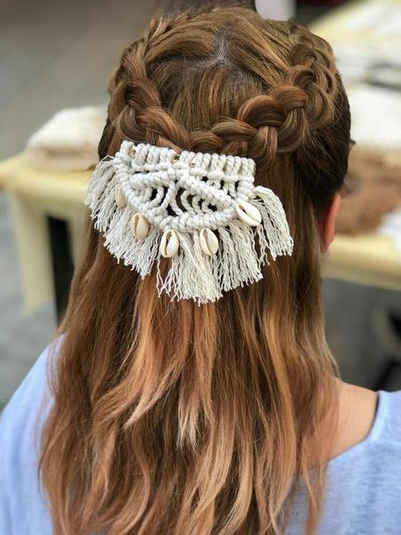 Macrame hair pin picture