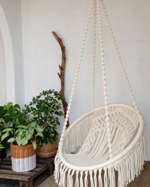Macrame hammock chair picture