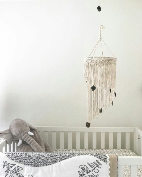 Macrame baby mobile picture