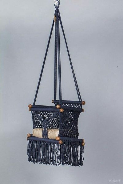 Macrame baby swing picture