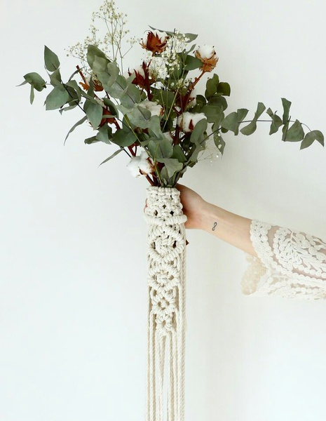 Macrame wedding bouquet picture