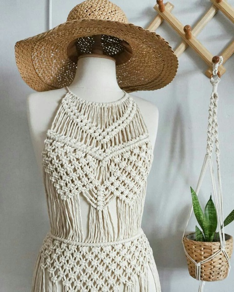 Macrame dress picture