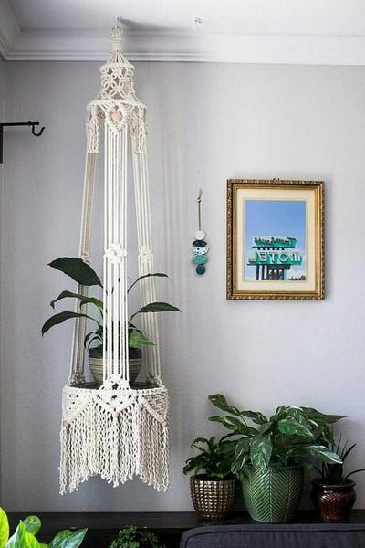 Macrame plant hanger picture